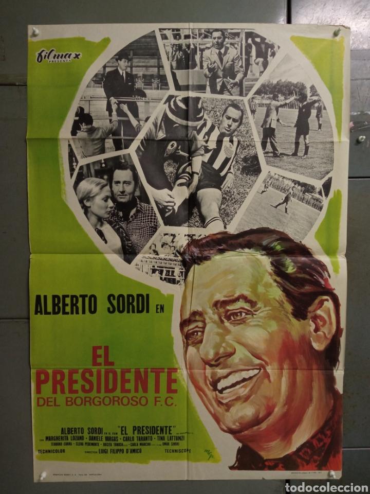CDO K968 EL PRESIDENTE DEL BORGOROSO ALBERTO SORDI FUTBOL POSTER ORIGINAL 70X100 ESTRENO (Cine - Posters y Carteles - Deportes)