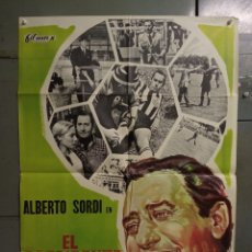 Cine: CDO K968 EL PRESIDENTE DEL BORGOROSO ALBERTO SORDI FUTBOL POSTER ORIGINAL 70X100 ESTRENO. Lote 265757339