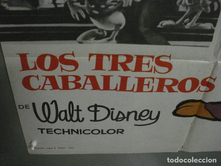 Cine: CDO K990 LOS TRES CABALLEROS WALT DISNEY POSTER ORIGINAL 70X100 ESPAÑOL R-63 - Foto 5 - 265785349