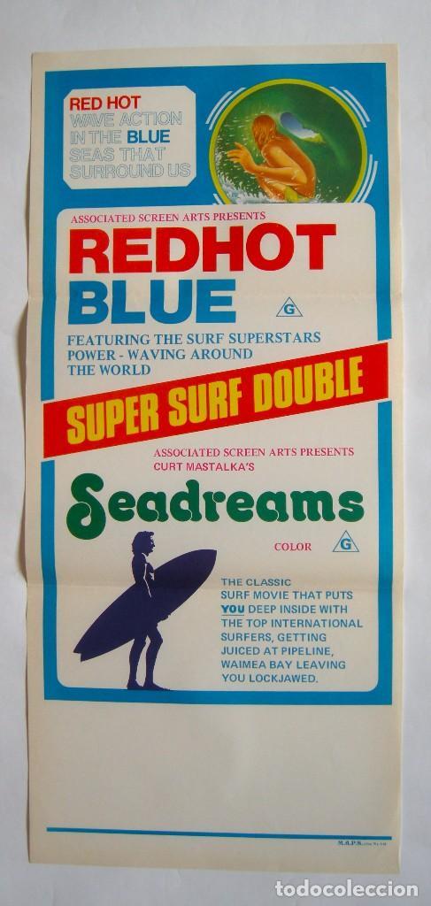 POSTER ORIGINAL AUSTRALIA / SURF / REDHOT BLUE SEADREAMS / 1972 / 34X76 CM (Cine - Posters y Carteles - Documentales)