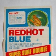 Cine: POSTER ORIGINAL AUSTRALIA / SURF / REDHOT BLUE SEADREAMS / 1972 / 34X76 CM. Lote 217037597