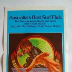 Cine: POSTER ORIGINAL AUSTRALIA / SURF / WINTER'S TALE / 1973 / 34X76 CM. Lote 217250733