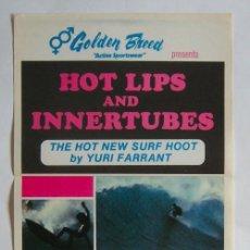 Cine: POSTER ORIGINAL AUSTRALIA / SURF / HOT LIPS & INNERTUBES / 1976 / 34X76 CM. Lote 217443017