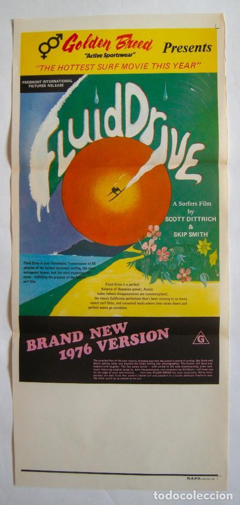 POSTER ORIGINAL AUSTRALIA / SURF / FLUID DRIVE / R1976 / 34X76 CM (Cine - Posters y Carteles - Documentales)