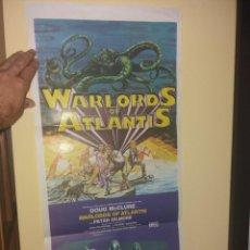 Cine: WARLORDS OF ATLANTIS ORIGINAL CARTEL Y DIFÍCIL. Lote 266513328