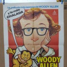 Cine: WOODY ALLEN. EL NÚMERO UNO. LILY LA TIGRESA. CARTEL ORIGINAL 1981. 100X70. Lote 266540933