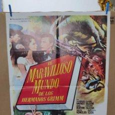 Cine: CARTEL DE CINE ORIGINAL DE LA PELÍCULA EL MARAVILLOSO MUNDO DE LOS HERMANOS GRIMM. Lote 266541803