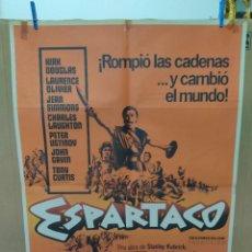 Cine: POSTER / CARTEL DE CINE ORIGINAL. ESPARTACO. KIRK DOUGLAS. 100 X 70CM.. Lote 266546838