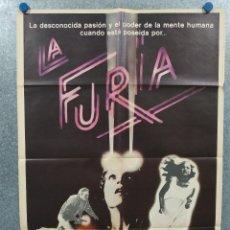 Cine: LA FURIA. AMY IRVING, KIRK DOUGLAS, JOHN CASSAVETES, BRIAN DE PALMA. AÑO 1979. POSTER ORIGINAL. Lote 266577943