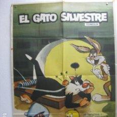 Cine: EL GATO SILVESTRE - POSTER CARTEL ORIGINAL - SPEEDY GONZALES BUGS BUNNY ANIMACION - L. Lote 266918719