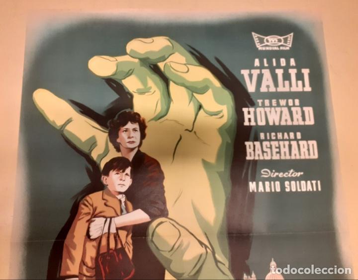 Cine: La mano del extranjero - Poster original 100x70 - Foto 2 - 266964739