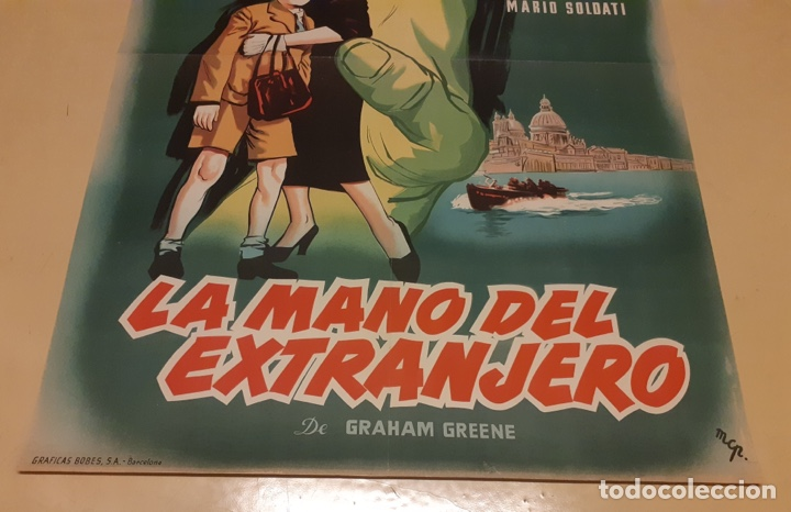 Cine: La mano del extranjero - Poster original 100x70 - Foto 3 - 266964739