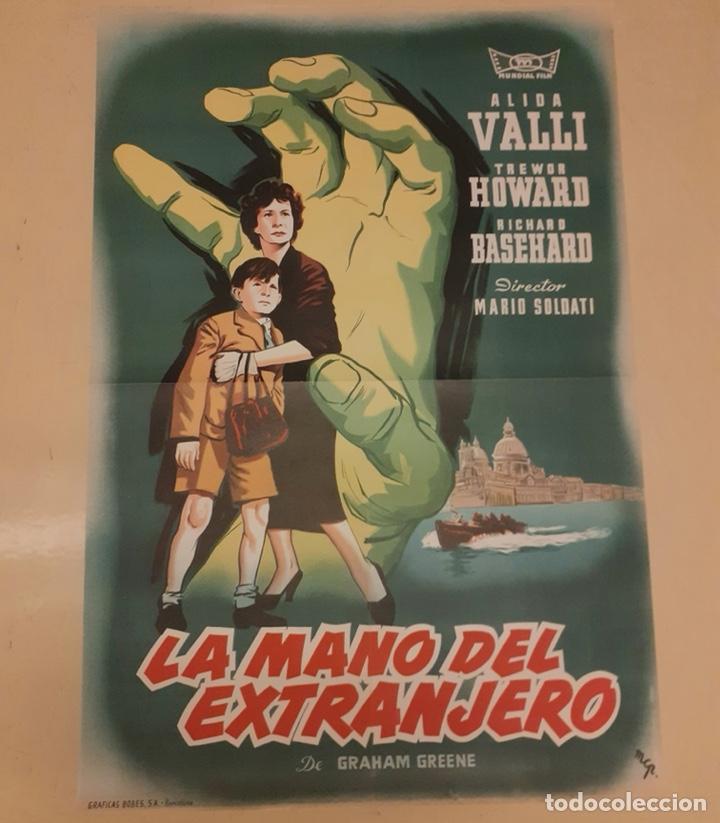 LA MANO DEL EXTRANJERO - POSTER ORIGINAL 100X70 (Cine - Posters y Carteles - Suspense)