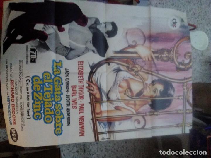 LA GATA SOBRE EL TEJADO DE ZINC ELIZABETH TAYLOR POSTER ORIGINAL 70X100 ESPAÑOL (Cine- Posters y Carteles - Drama)