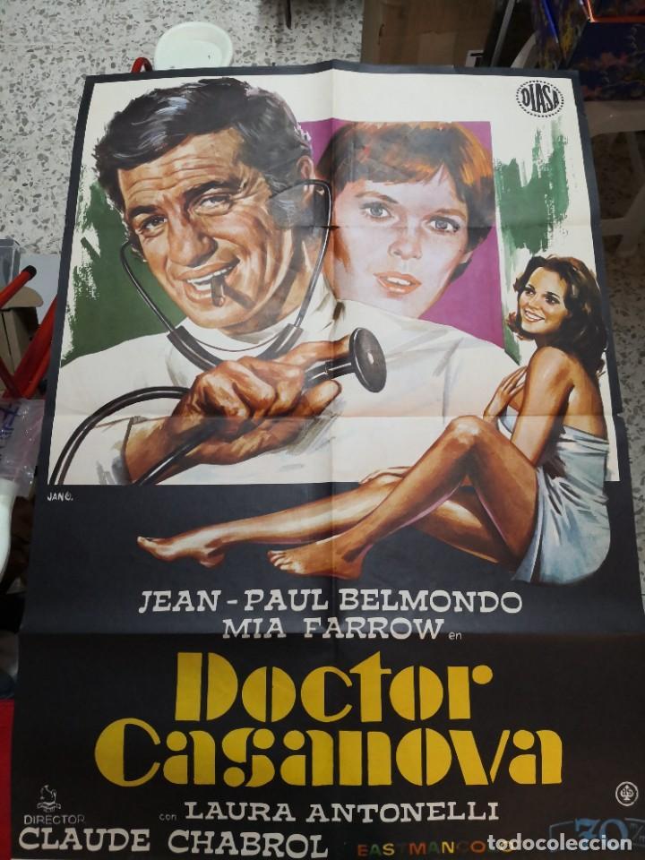 DOCTOR CASANOVA JEAN PAUL BELMONDO LAURA ANTONELLI CHABROL POSTER ORIGINAL 70X100 ESTRENO (Cine - Posters y Carteles - Comedia)