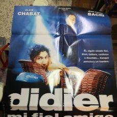 Cine: CARTEL POSTER DE CINE ORIGINAL DIDIER MI FIEL AMIGO - ALAIN CHABAT - JEAN PIERRE BACRI - ISABELLE. Lote 266973659