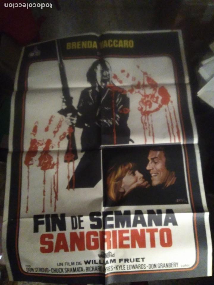FIN DE SEMANA SANGRIENTO BRENDA VACCARO POSTER ORIGINAL 70X100 ESPAÑOL ESTRENO (Cine - Posters y Carteles - Terror)