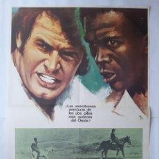 Cine: ANTIGUO CARTEL CINE LOS TROTAMUNDOS JAMES GARNE LOU GOSSETT 1974 MAC RV P76. Lote 267137284