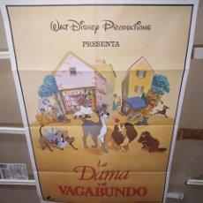 Cine: LA DAMA Y EL VAGABUNDO WALT DISNEY POSTER ORIGINAL 70X100 Q. Lote 267243154