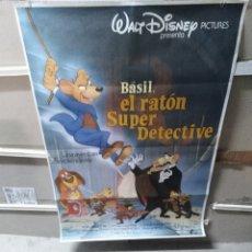 Cine: BASIL EL RATON SUPERDETECTIVE WALT DISNEY POSTER ORIGINAL 70X100. Lote 267243464