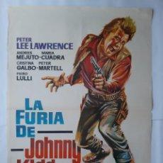 Cine: ANTIGUO CARTEL CINE LA FURIA DE JOHNNY KIDD 1968 HERMIDA RV P83. Lote 267308039