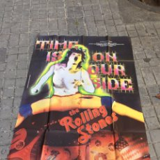Cine: THE ROLLING STONES. TIME IS ON OUR SIDE. PÓSTER GIGANTE. CARTEL. Lote 267590709