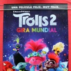 Cine: PÓSTER DE LA PELÍCULA: TROLLS 2 - GIRA MUNDIAL - OCTUBRE. Lote 267641829