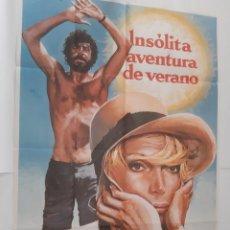 Cine: ANTIGUO CARTEL CINE INSOLITA AVENTURA DE VERANO 1976 RV P89. Lote 267745364