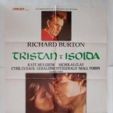 Cine: ANTIGUO CARTEL CINE TRISTAN E ISOLOA RICHART BURTON RV P97. Lote 267757399