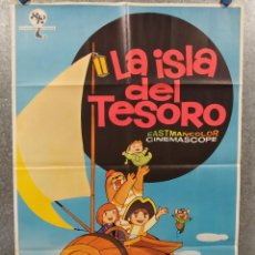 Cine: LA ISLA DEL TESORO. AÑO 1971. POSTER ORIGINAL. Lote 267760154