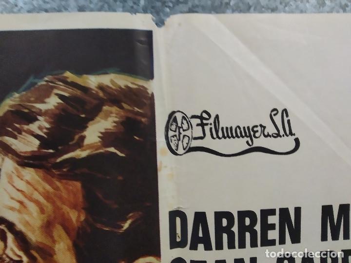 Cine: Vidas en peligro. Darren McGavin, Sean Garrison. AUTOMOVILISMO. AÑO 1974. POSTER ORIGINAL - Foto 3 - 267760454
