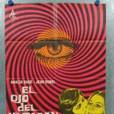Cine: EL OJO DEL HURACÁN. ANALÍA GADÉ, JEAN SOREL, ROSANNA YANNI. GIALLO. AÑO 1971. POSTER ORIGINAL. Lote 267764054
