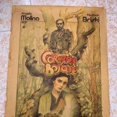Cine: CARTEL DE CINE ORIGINAL DE LA PELICULA EL CORAZON DEL BOSQUE ANGELA MOLINA - NORMAN BRISKI. 100X70CM. Lote 267814214