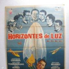 Cine: HORIZONTES DE LUZ - POSTER CARTEL ORIGINAL - ANTONIO OZORES LEON KLIMOVSKY TORREBRUNO AVIACION - L. Lote 267901554