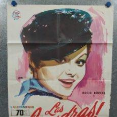 Cine: LAS LEANDRAS. ROCÍO DURCAL, ALFREDO LANDA, ISABEL GARCÉS. AÑO 1969. POSTER ORIGINAL. Lote 268119974