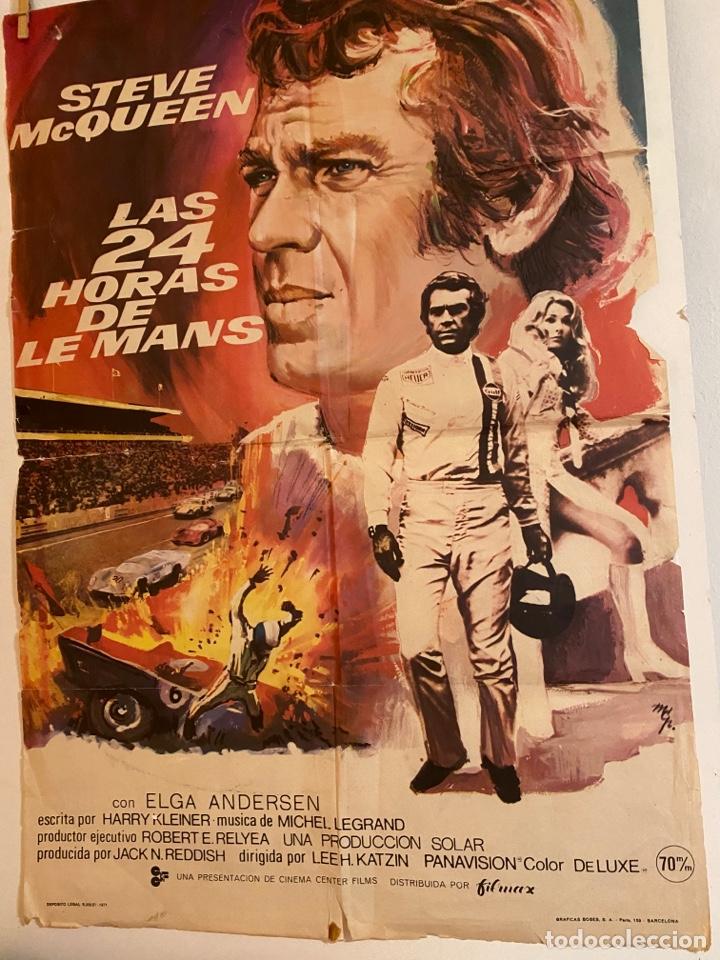 CARTEL. LAS 24 HORAS DE LE MANS (Cine - Posters y Carteles - Acción)