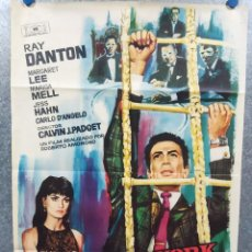 Cine: NUEVA YORK LLAMA A SUPERDRAGO. RAY DANTON, MARGARET LEE, MARISA MELL POSTER ORIGINAL. Lote 268120969