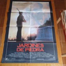 Cine: CARTEL, ORIGINAL DE JARDINES DE PIEDRA, 94 X 66 CM, PLEGADO.. Lote 268252814