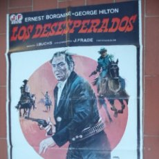 Cine: MOVIE POSTER CARTEL DE CINE ORIGINAL DE EPOCA 70X100 APROX VER FOTO LOS DESESPERADOS JANO. Lote 288142223