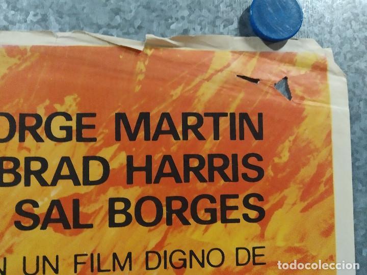 Cine: Los 3 Supermen en la selva. George Martin, Salvatore Borghese. POSTER ORIGINAL - Foto 4 - 268570809