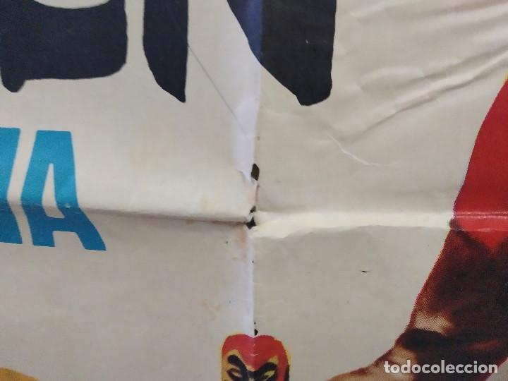 Cine: Los 3 Supermen en la selva. George Martin, Salvatore Borghese. POSTER ORIGINAL - Foto 8 - 268570809