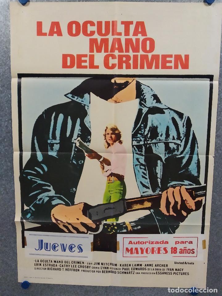 LA OCULTA MANO DEL CRIMEN. JAMES MITCHUM, KAREN LAMM, ANNE ARCHER. AÑO 1976 POSTER ORIGINAL (Cine - Posters y Carteles - Acción)