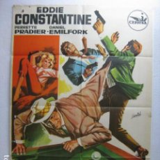 Cine: JEFF GORDON ATACA - POSTER CARTEL ORIGINAL - DES FRISSONS PARTOUT EDDIE CONSTANTINE - HERMIDA - L. Lote 268734094