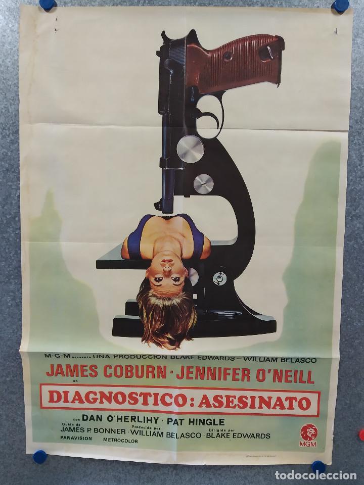 DIAGNÓSTICO: ASESINATO. JAMES COBURN, JENNIFER O'NEILL. AÑO 1972. POSTER ORIGINAL (Cine - Posters y Carteles - Acción)