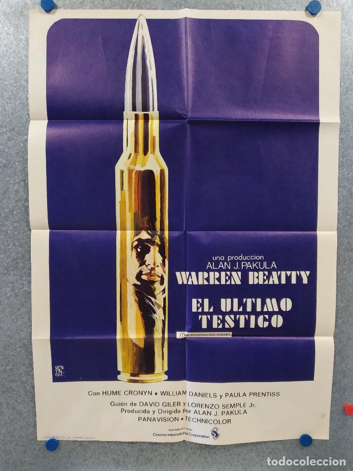 EL ÚLTIMO TESTIGO. WARREN BEATTY, HUME CRONYN. AÑO 1974. POSTER ORIGINAL (Cine - Posters y Carteles - Suspense)