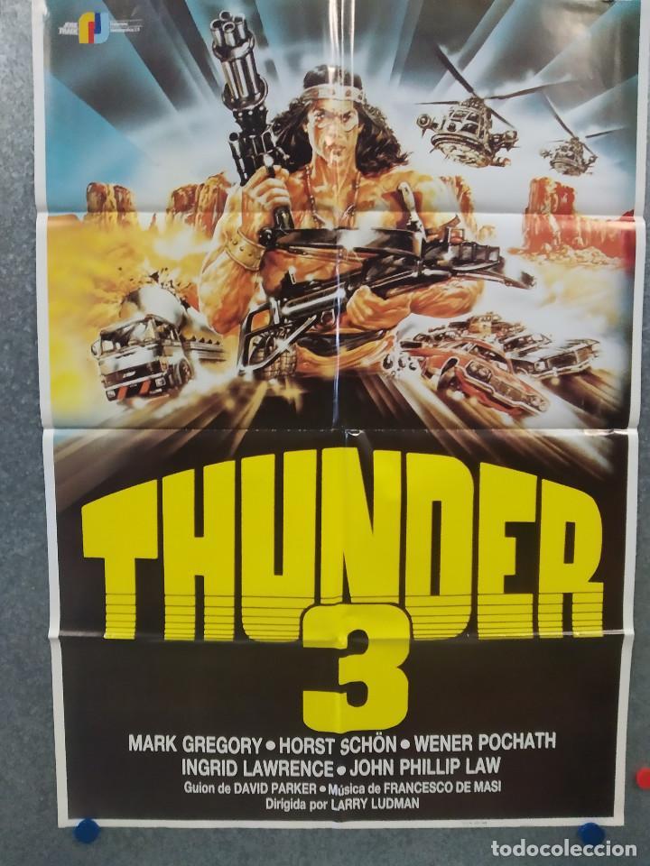 THUNDER 3. MARK GREGORY, JOHN PHILLIP LAW, HORST SCHÖN. AÑO 1989. POSTER ORIGINAL (Cine - Posters y Carteles - Acción)