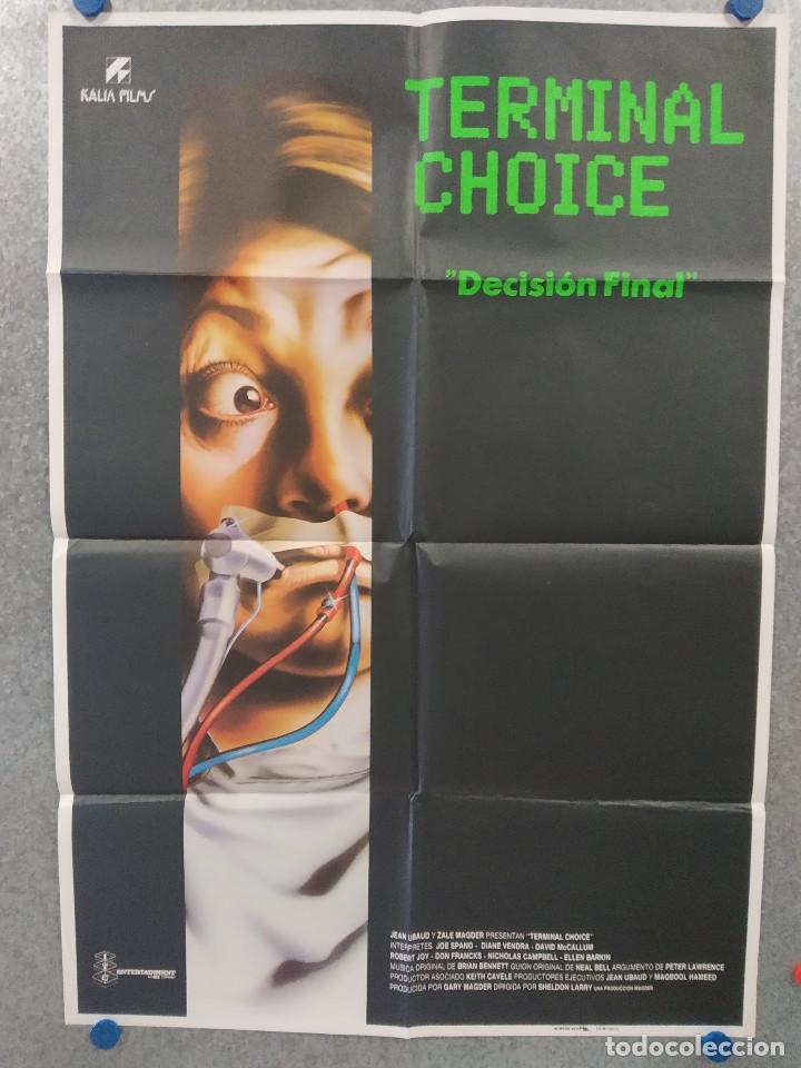 DECISIÓN FINAL. JOE SPANO, DIANE VENORA, DAVID MCCALLUM. POSTER ORIGINAL (Cine - Posters y Carteles - Suspense)