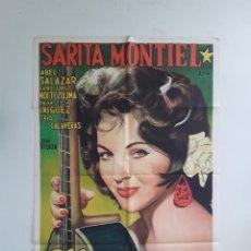 Cine: ELLA LUCIFER Y YO - SARITA MONTIEL CARTEL ORIGINAL LITOGRAFICO 75 X 100 CMS ABEL SALAZAR MOCTEZUMA. Lote 269004589