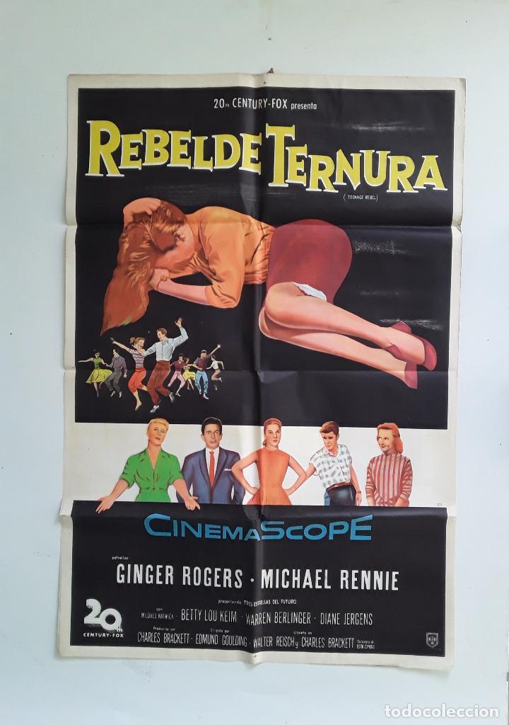 TEENAGE REBEL - REBELDE TERNURA CARTEL ORIGINAL 75 X 1110 GINGER ROGERS MICHAEL RENNIE (Cine - Posters y Carteles - Acción)