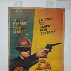 Cine: LA CICATRIZ CARTEL LITOGRAFICO ORIGINAL 1948 - FILM NOIR PAUL HENREID MUY RARO HOLLOW TRIUMPH. Lote 269005164